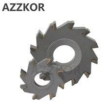 สามด้าน Indexable ใบเลื่อย Milling Cutter เคลือบทังสเตนเหล็กเครื่องมือ Cnc Blade Maching แบน AZZKOR คาร์ไบด์เครื่องมือ