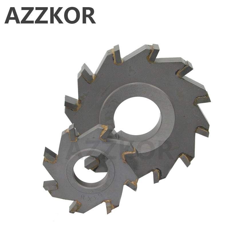 Three Sided Indexable Disc Saw Milling Cutter Alloy Coating Tungsten Steel Tool Cnc Blade Maching Flat AZZKOR Carbide Tools