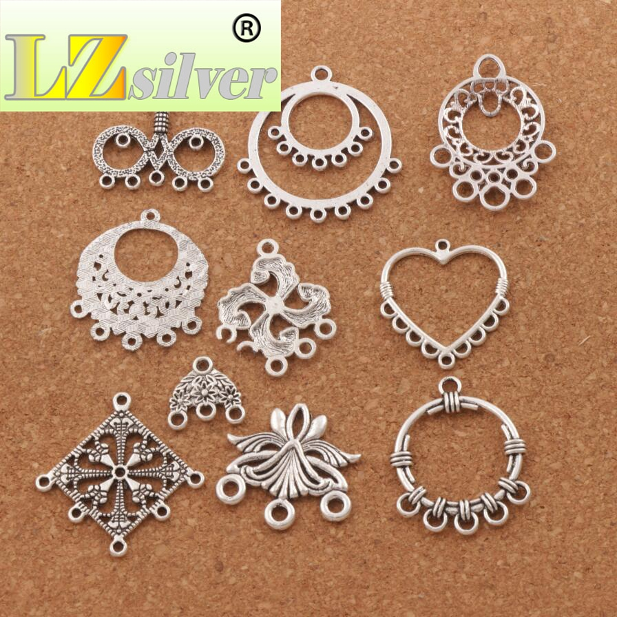 10pcs Earring Connectors Eardrop Necklace Jewelry Charms Pendant for DIY Crafts