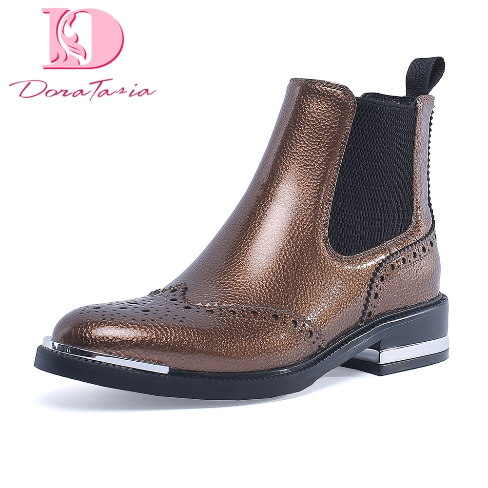 Doratasia new High Quality plus Size 34 42 Shoes Woman Boots leisure chelsea boots women Fashion
