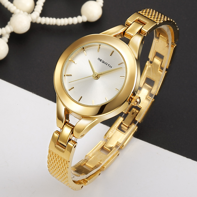 Fashion Rose Gold Bracelet Watch Women Dress Quartz Watches Stainless Steel Luxu