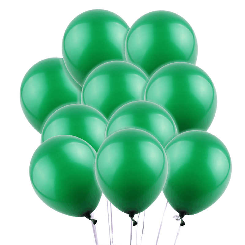 10pcs 10inch 2.3g Dark Green Latex Balloon Inflatable Wedding Decorations Air Ball Happy Birthday Party Supplies Balloons