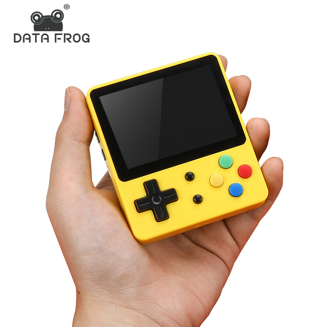 DATA FROG Classic Mini Handheld Game Console Portable LDK Game Family TV Video Console 2.6Inch Support TF Card Gift for Children