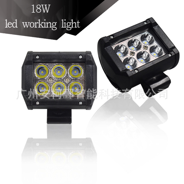 Work lamp 4 inch 18W6 double row high-brightness LED automobile work overhaul motorcycle refitted