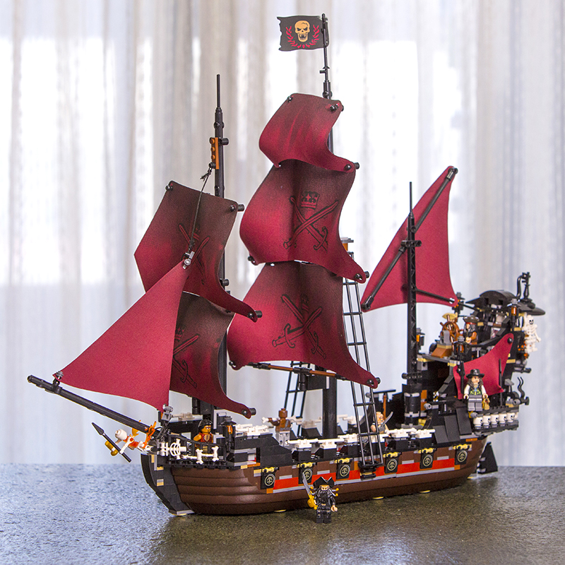 Lepin 16006 16009 the Black Pearl Queen Anne's Revenge Ship Pirates of the Caribbean Legoings 4195 Model Building Blocks 1151pcs купить в Москве 2019