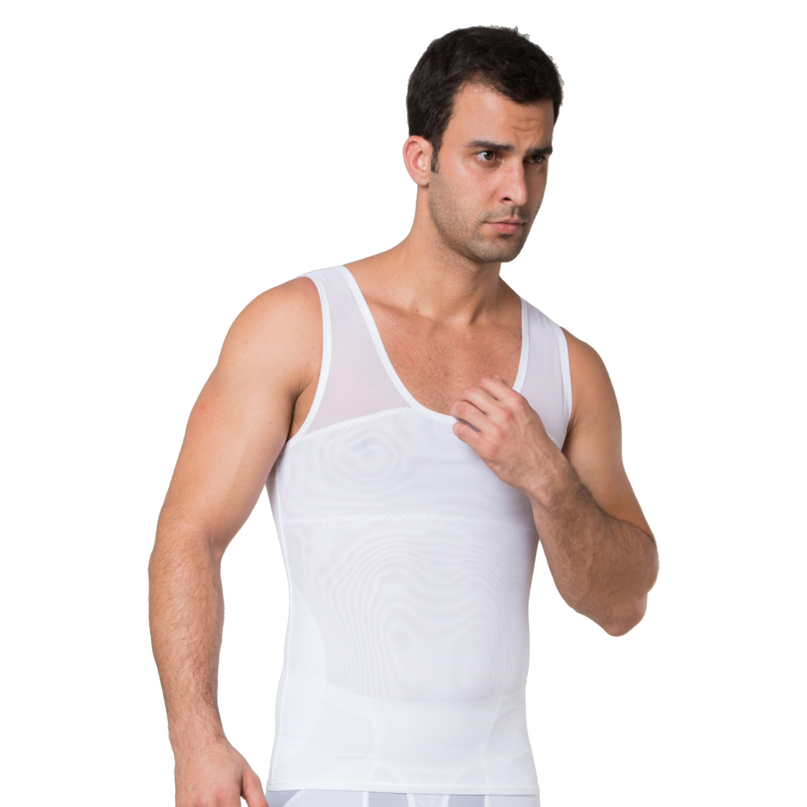 51e1b8ebd6ac0 2017 Men Shapers Summer Solid Sleeveless Firm Tummy Belly Buster Vest  Control Slimming Body Shaper Underwear Shirt Tank Top-in Shapers from  Underwear ...