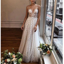 Summer Dress Women Sling Cross Wedding V-Neck Elegant Party Evening Slim Hollow Lace Fashion Female