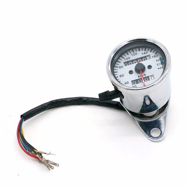 Universal Tachometer Odometer Gauge ATV Bike Scooter Backlit Dual Speed meter with LED Indicator Motorcycle Speedometer Odometer