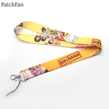 A0675 Patchfan Bobs Burgers Movie style Multi-function Mobile Phone Straps Tags Neck Lanyards for keys Badge Strap webbing