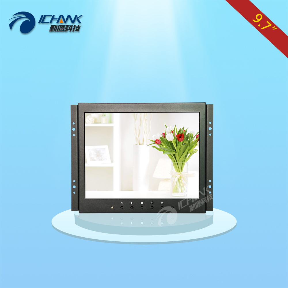 ZK097TN-V592/9.7 inch 1024x768 HDMI IPS Full View 720p Metal Case Embedded&Open Frame&Wall-mounted Industrial Monitor LCD Screen zk080tn lr 8 inch 1024x768 bnc vga hdmi metal case open embedded frame industrial medical equipment monitor lcd screen display