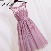 Free Shipping Tulle Cocktail Dress Sweetheart Crystal Beaded Cocktail Party Knee Length Cocktail Dresses Robes Cocktail
