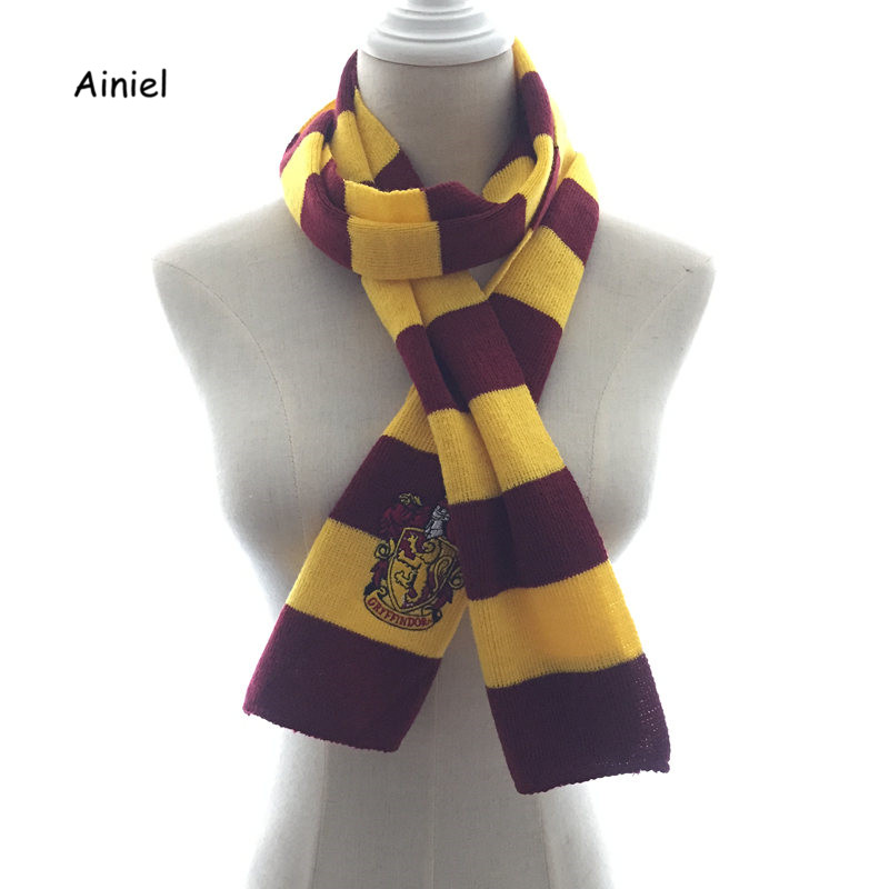 Gryffindor Scarf  Slytherin Hufflepuff Ravenclaw Hermione Scarves Cosplay Costumes Neckerchief Men Women Boy Girl