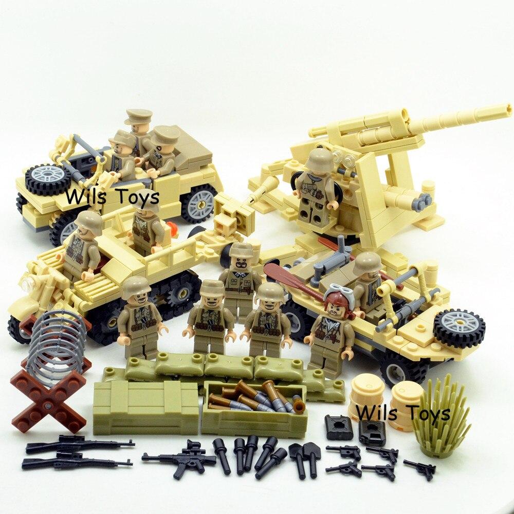 4 dans 1 Allemand Armée Militaire Guerre Mondiale 2 SWAT Soldat arme navy seals équipe de Construction Blocs Briques Chiffres Garçon Jouet Enfants ensemble