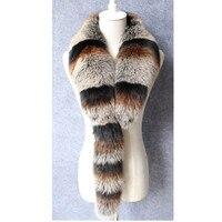 ZY86018 2017 New arrival Women Winter Warm Real Natural Fur Fox Fur Fashion Neck Scarf Fur Collar
