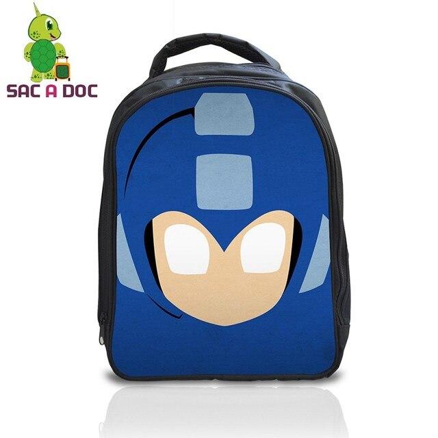 Cool Bloop Megaman School Backpack Children Book Bag Kids Kindergarten  Backpack Boys Girls Students Cartoon School Bags Gift Bag 9adae6ed59699