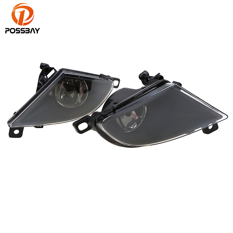 POSSBAY Halogen Car Lights for BMW E60 E61 5 Series 2007 2008 2009 2010 Front Lower Bumper Fog Lights Lamp Yellow Bulbs for audi q7 2007 2008 2009 new pair of halogen front fog lamp fog light with bulbs 8p0941699a 8p0941700a
