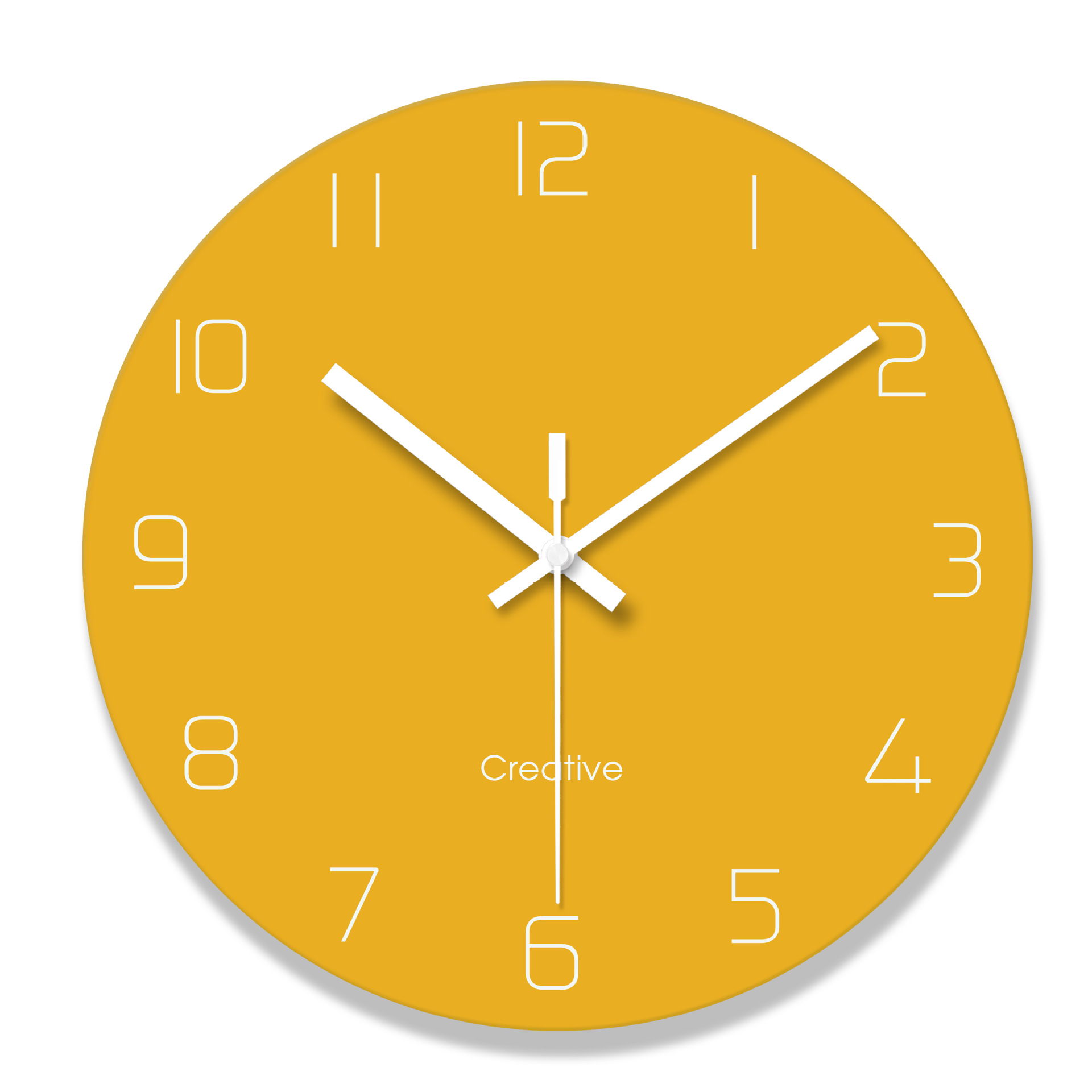 Creative Nordic Solid Color Simple Wall Clock Fashion Glass Watch Home Office School Decoration Fun Gift Dropshipping