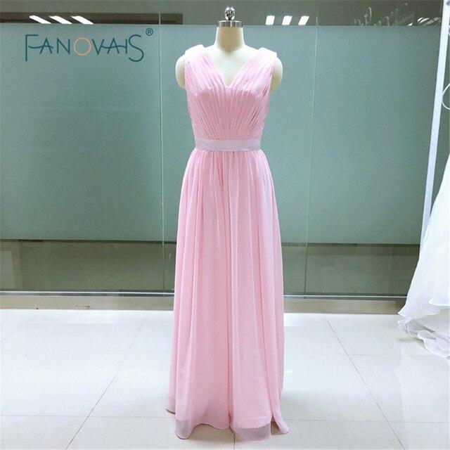 e3db46aefe Nueva Llegada Con Encanto Pink Champagne Vino Púrpura Azul Real vestidos de  dama de Gasa Suave