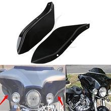 Preto do Lado de Plástico Transparente Asa Brisa Defletores de Ar Para Harley Touring FLHR FLHT FLHX 96-13