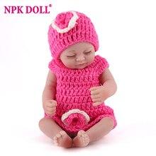 NPKDOLL Mini 25cm Reborn Doll Kids Playmate 10 inch Full Vin