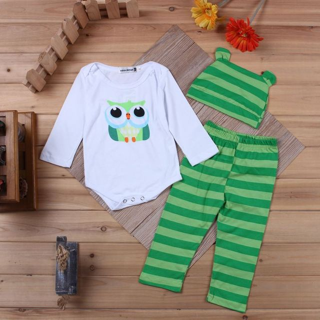 31315d4e7b54 new 3pcs baby cotton Cartoon stripe polka dot heart jumpsuits boys ...