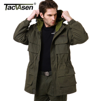 TACVASEN Men S Army Camouflage Hooded Jacket Military Tactical Jacket Men Winter Windbreaker US Army AIR