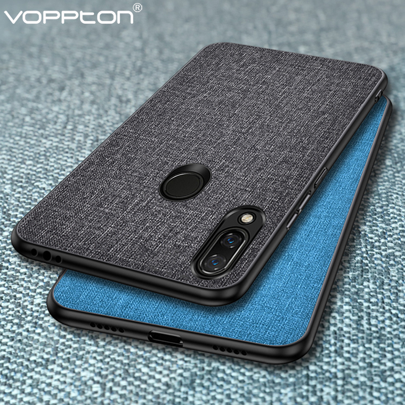 For <font><b>Xiaomi</b></font> <font><b>redmi</b></font> note <font><b>7</b></font> Case Fabric Hard PC Silicone Frame <font><b>Back</b></font> <font><b>Cover</b></font> For <font><b>Xiaomi</b></font> <font><b>Redmi</b></font> note7 Note 8 Pro Note 6 pro Note 5 pro image