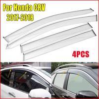 4pcs Plastic Window Visor Vent Shades Rain Guard For Honda CRV CR V 2017 2018