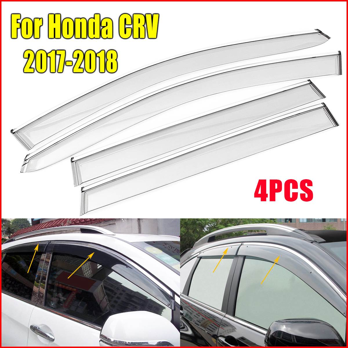 4pcs plastic window visor vent shades rain guard for honda crv cr v
