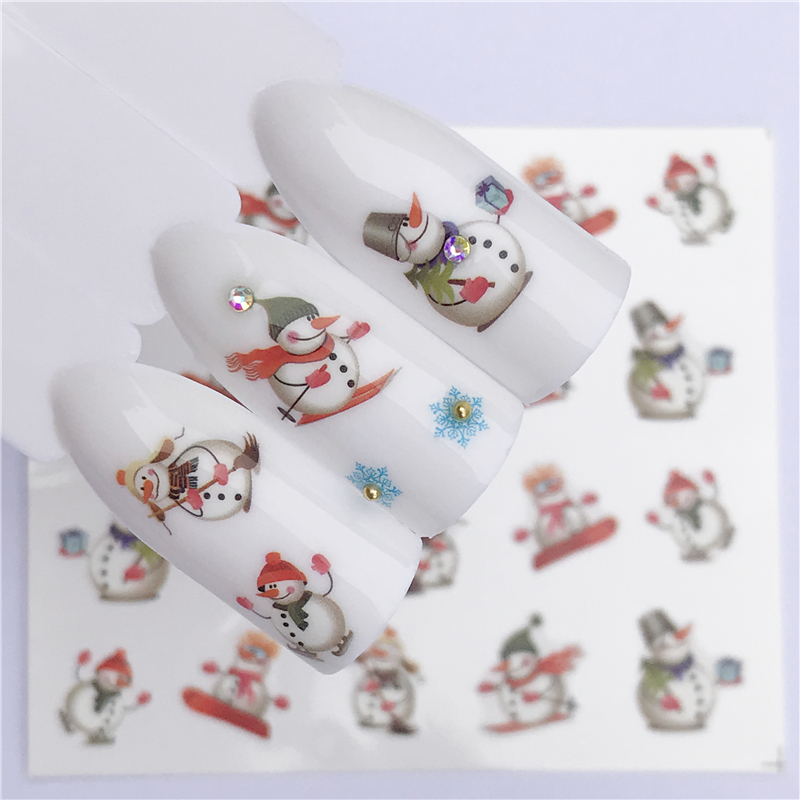 Nail Art sticker - New Year Tattoo Christmas Water Decal Santa Claus