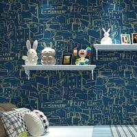 Modern Fashion Mediterranean Children Room Non Woven Wallpaper Roll For Wall Living Room Bedroom