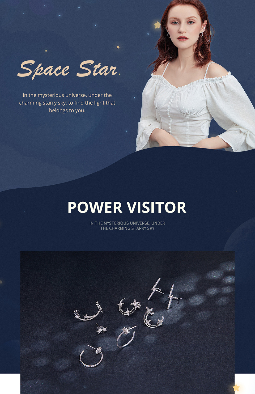 HTB1bZ8WV6TpK1RjSZKPq6y3UpXaQ BAMOER Star Comet Asymmetry Stud Earrings for Women Clear CZ Bright Meteor Ear Stud 925 Sterling Silver Jewelry Femme BSE087