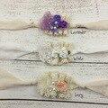 24 unids/lote Tie Back Venda Recién Nacida apoyo de La Fotografía del Recién Nacido Shabby Chic Venda Del Bebé