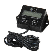 RL-HM011A Digital Reset tach Hour Meter Tachometer for paramotor marine outboard motorbike chainsaw lawn mowers mopeds ATV boats
