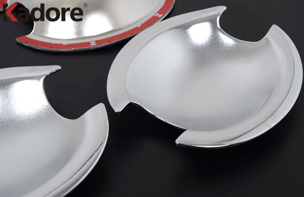 For Mitsubishi Lancer 2008 2009 2010 2011 ABS Chrome Side Door Handle Cup Bowl Cover Trim Exterior Accessories