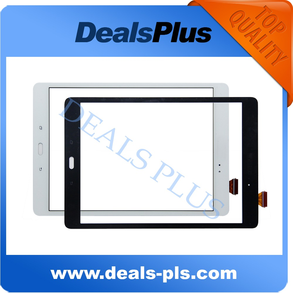Replacement New Touch Screen Digitizer Glass For Samsung Galaxy Tab A SM-P550 P550 P551 P555 9.7-inch White Black Free Shipping free tools replacement for samsung galaxy tab s 10 5 sm t800 touch screen digitizer replacement white track code