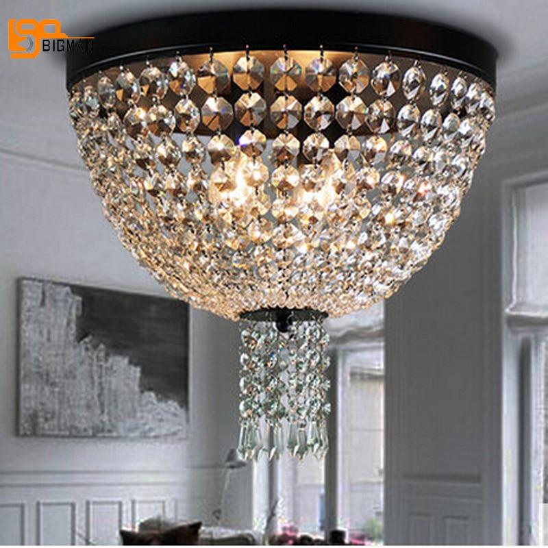 Nuevo diseño contemporáneo lámparas de techo de cristal para sala  verlichting lustre de cristal plafonnier f344f9e9b962