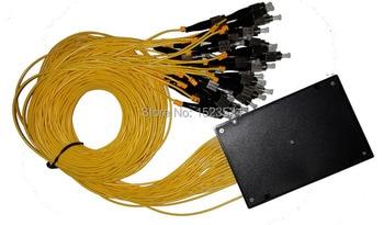 Envío libre GPON Epon 2.0mm 1.2 m 1x32 caja ABS 1 32 FC/UPC 32 puertos fibra óptica PLC divisor
