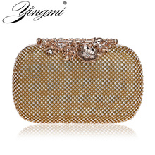 YINGMI New Arrival Full Of Rhinestones For Women Evening Bag Chain Shoulder Ladies Purse Handbags Small Party Dress Clutch все цены