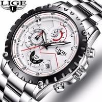 Relogio Masculino LIGE Mens Watches Top Brand Luxury Men S Military Sports Waterproof Watch Men S