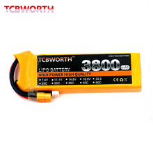 Tcbworth RC Lipo батареи 2 S 7.4 В 3800 мАч 60C-120C rc липо для вертолета лодки автомобиля Quadcopter li -полимерный Batteria Акку