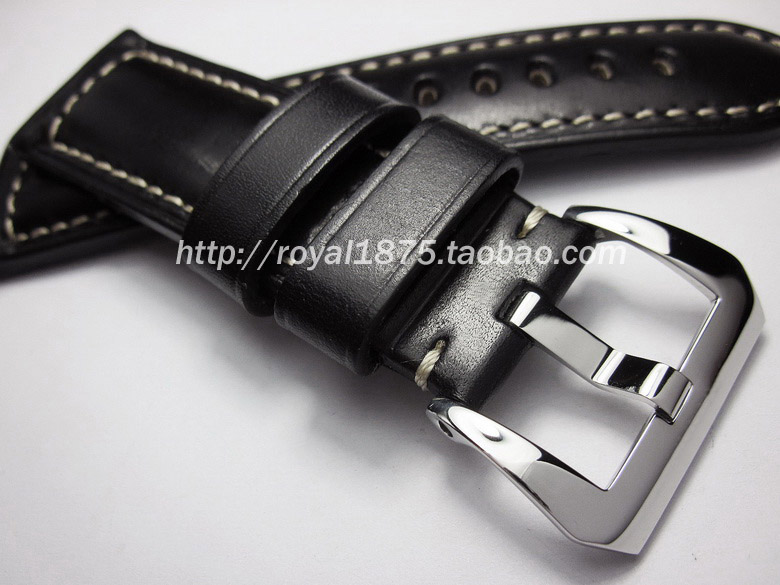 Hand made High Quality Italian Black Straps Brown Leather Watch Strap & Band For Panerai 22mm 24mm With Stainless Steel Buckle шариковая ручка автоматическая sponsor slp047 yl