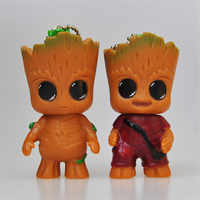 2 pcs of Tree man Groot Doll Keychain for Pendant Car Decoration with free shipping