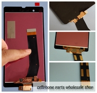 For Sony Xperia Z LCD Display With Glass Touch Screen Assembly For Sony C6602 LCD For