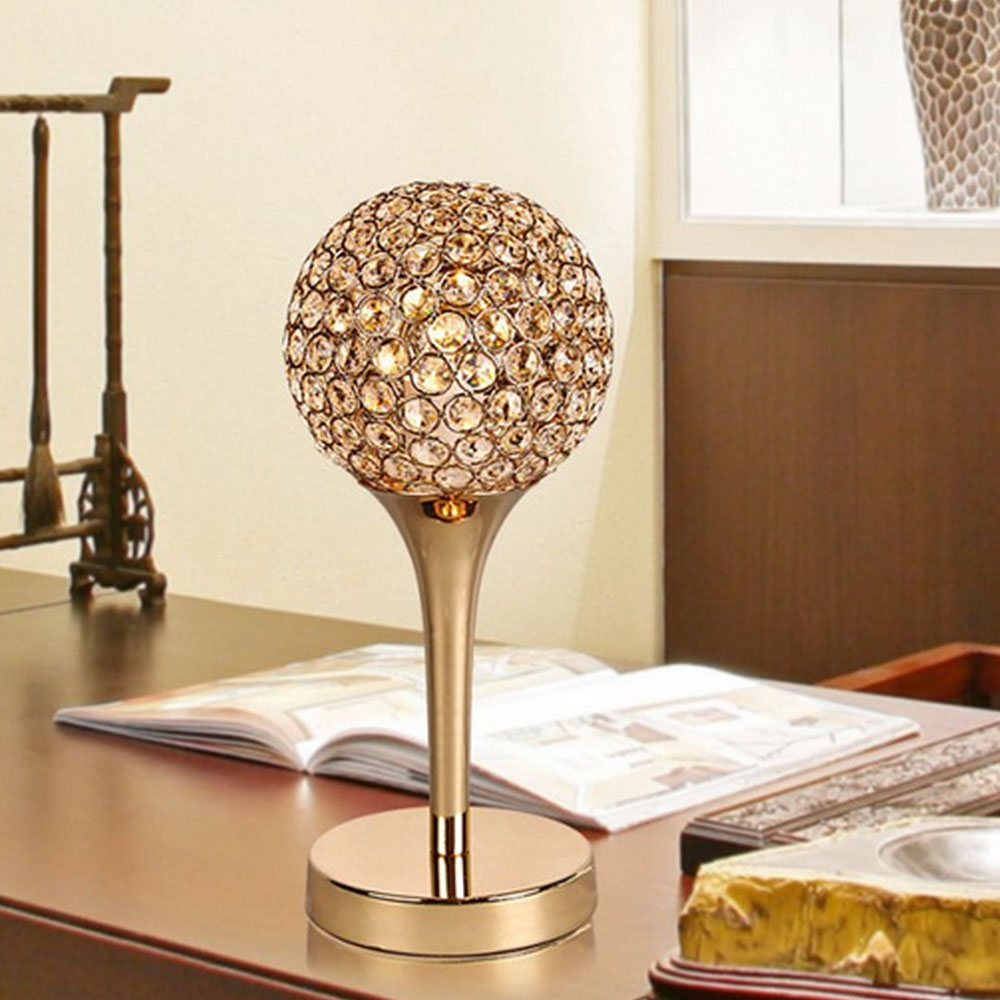 Dimmer Modern K9 Crystal Table Lamp E27 Bedside Living Room Office Light shade Decoration Luminaire FRTL/T48 adjustable for home raffaello t48