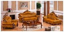 Iexcellent дизайнер угловой диван-кровать, европейский и американский стиль диван, кресло итальянский кожаный диван, набор мебели для гостиной