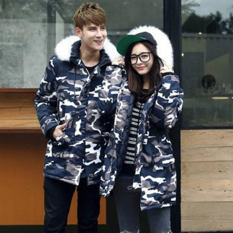 Winter Camouflage Couple   Parka   Long Coat for Men Warm Hoody Jacket for Women Teen Fashion Casual Clothes Plus Size 5XL Oversize
