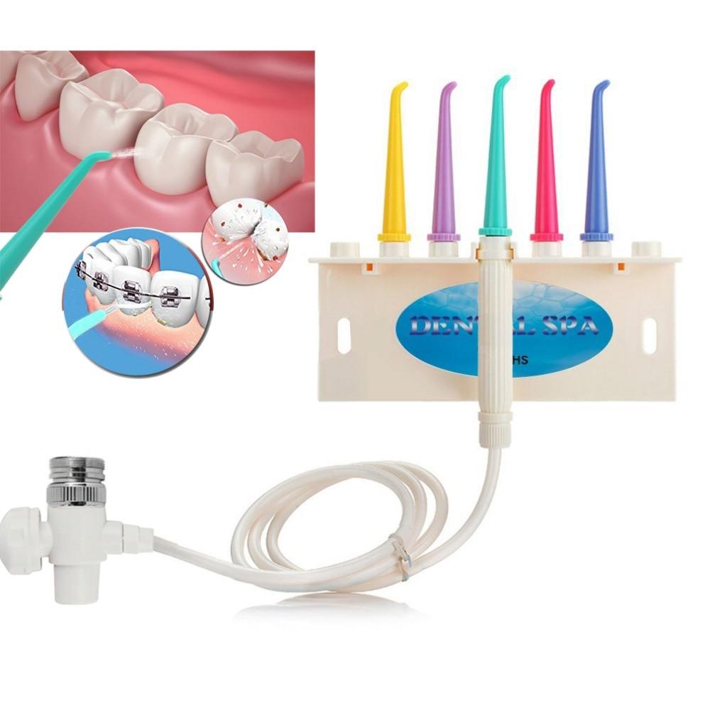 AZDENT Family SPA Water Dental Flosser Oral Faucet Irrigator Teeth Cleaner Flossing Interdental Toothbrush Floss Teeth Whitening