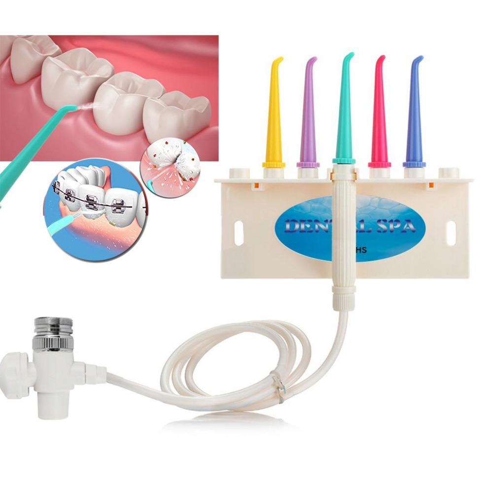 AZDENT Family SPA Water Dental Flosser Faucet Jet Teeth Cleaner Flossing Interdental Toothbrush Floss Oral Care Teeth Whitening