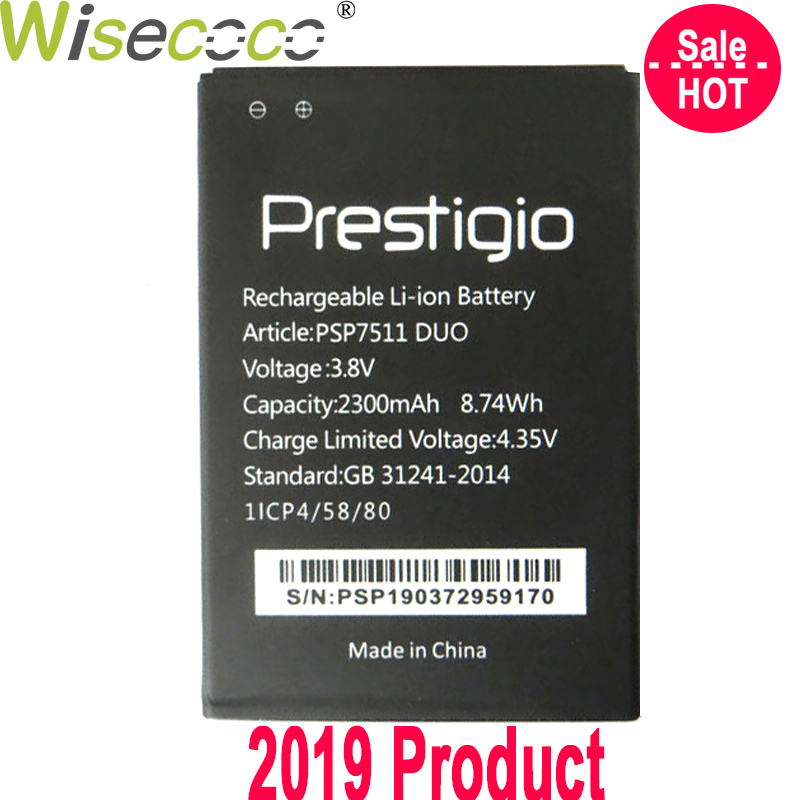 WISECOCO Battery For <font><b>Prestigio</b></font> Muze PSP7511 <font><b>PSP3512</b></font> DUO Phone Latest Production High Quality Battery With Tracking Number image
